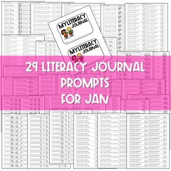 Literacy Journal Prompts for Kindergarten | Jan 2