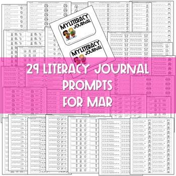 Literacy Journal Prompts for Kindergarten | Mar 2