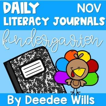 Literacy Journal Prompts for Kindergarten   Nov 1