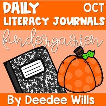 Literacy Journal Prompts for Kindergarten | Oct 1