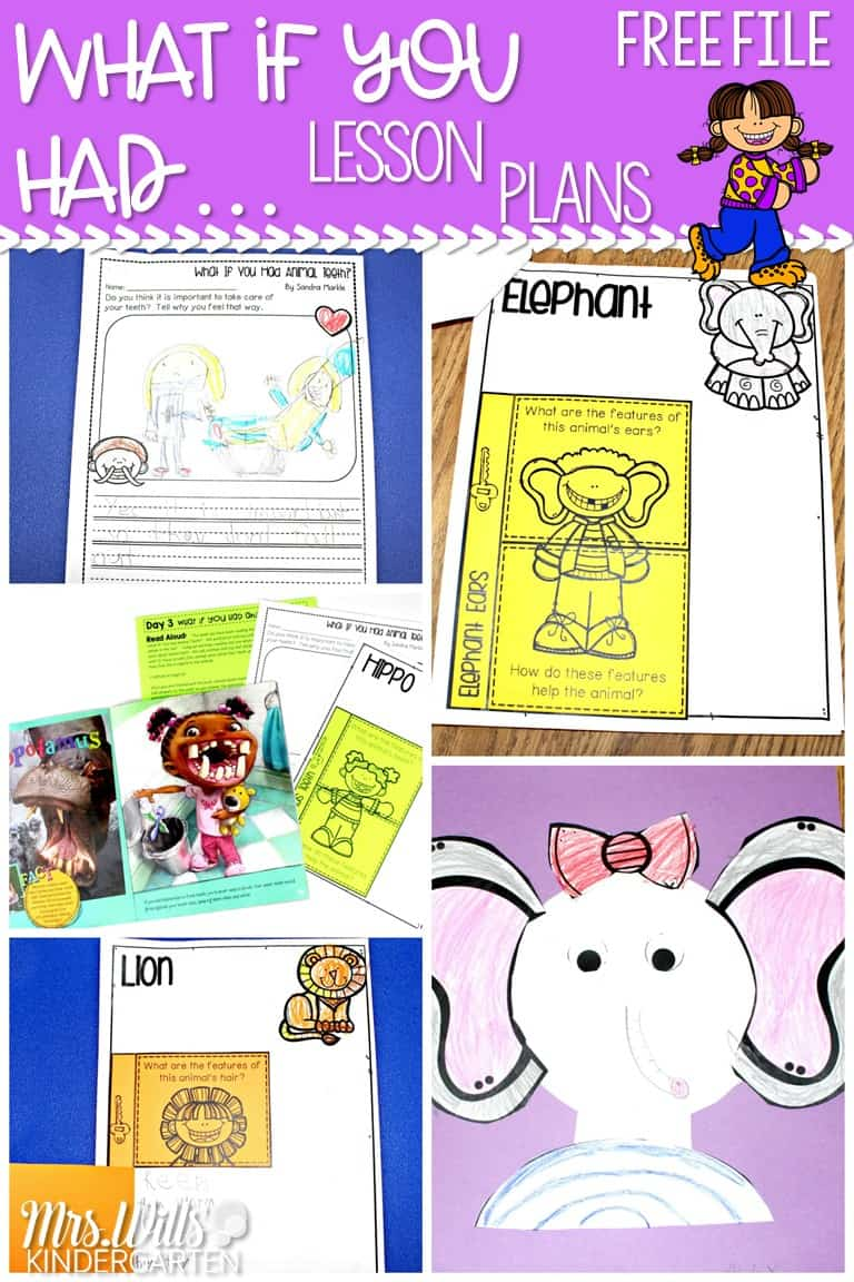 "Animal lesson plans for kindergarten and 1st grade with a free file! Close reading lesson plans to learn about animal adaptations using the ""What if you had Animal..."" book series."