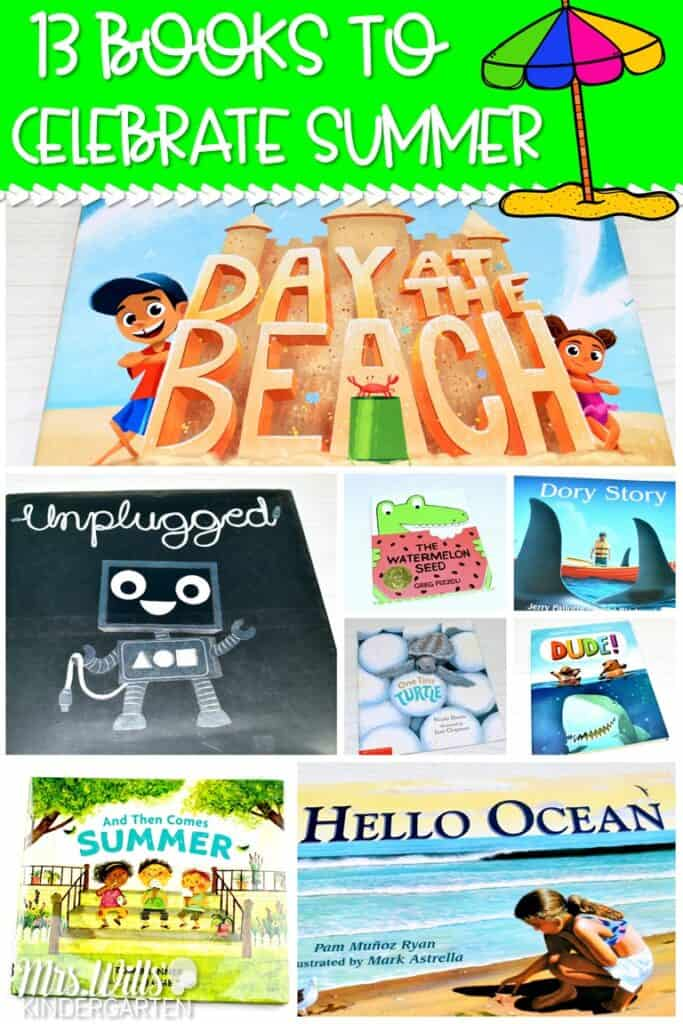 Fun books about summer. Welcome Summer with these great picture books and lesson ideas for kindergarten, first, and second grade! #summerbooks #booksaboutsummer #summerreadalouds