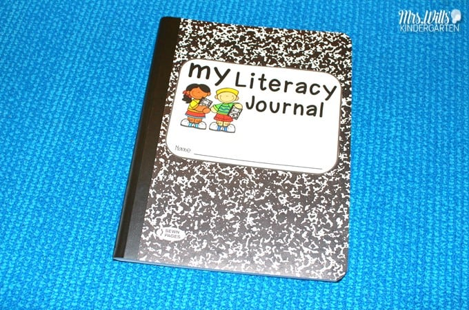 Kindergarten Journal Prompts for Literacy. Add this daily routine to reinforce literacy concepts. Print concepts, phonological awareness, phonics, and word recognition practice for kindergarten!