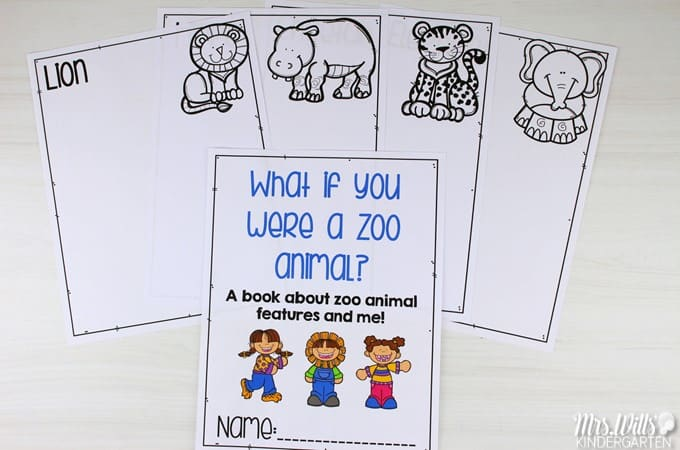"Animal lesson plan ideas for kindergarten and 1st grade with a free file! Close reading lesson plans to learn about animal adaptations using the ""What if you had Animal..."" book series."