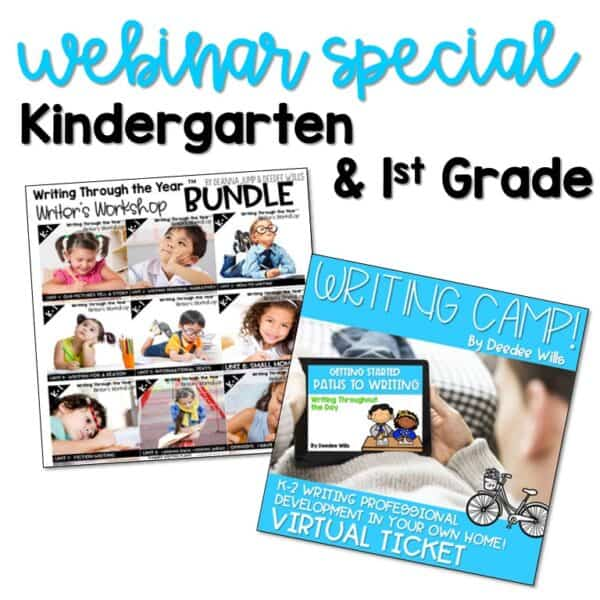 Writing Webinar Special: K-1 1