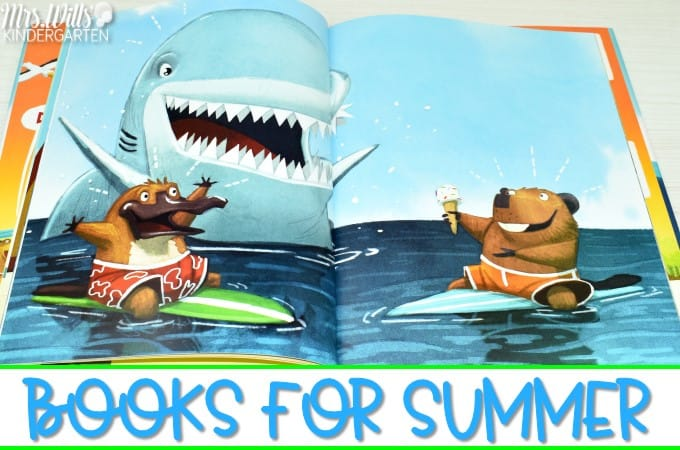 Fun books about summer. Welcome Summer with these great picture books and lesson ideas for kindergarten and first grade.