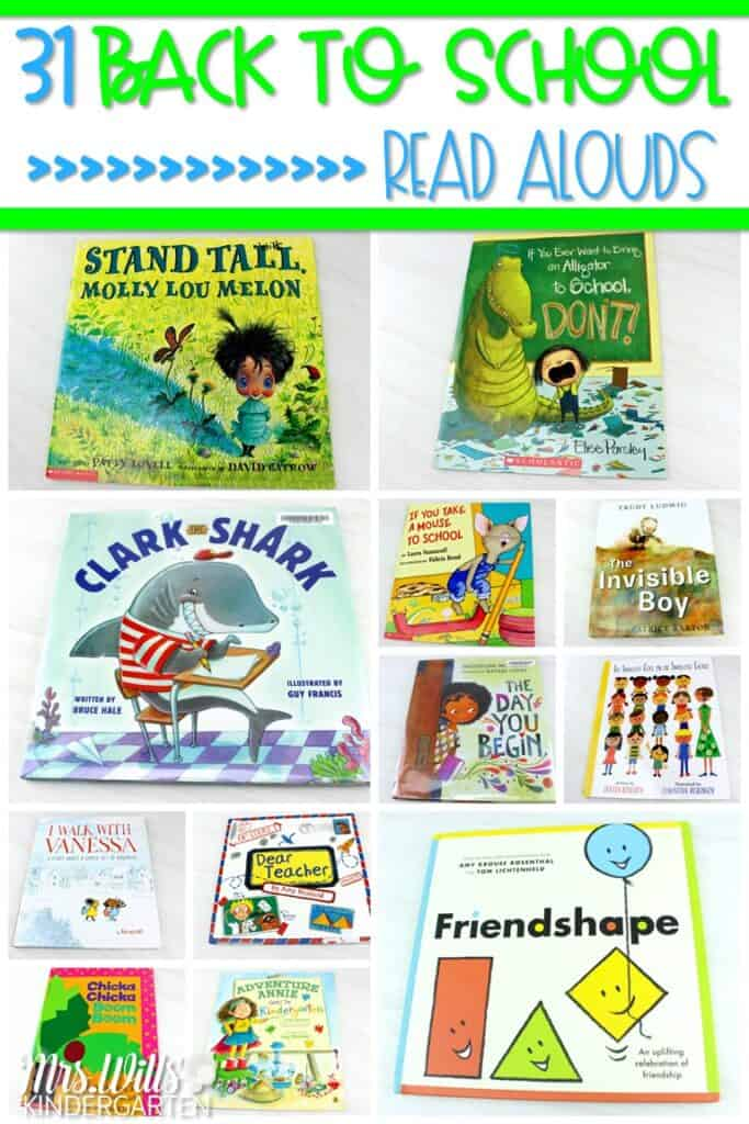 31 back to school books for primary grades. Share these great read alouds with your students during the first few weeks of school. #backtoschoolbooks #backtoschoolreadalouds