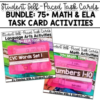 Task Cards for Kindergarten-Math and Literacy 1