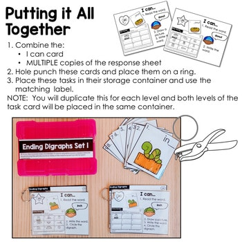 Task Cards for Kindergarten-Math and Literacy 2