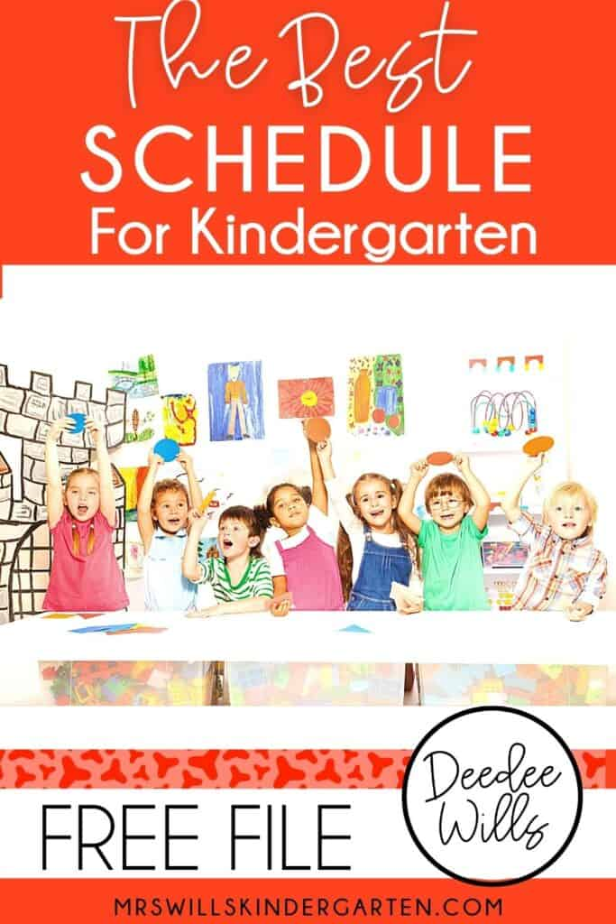 Kindergarten schedule! The BEST kindergarten schedule to help you fit it all in! Academic and developmentally appropriate kindergarten activities that will keep your students engaged and learning! FREE Editable Schedule Included.