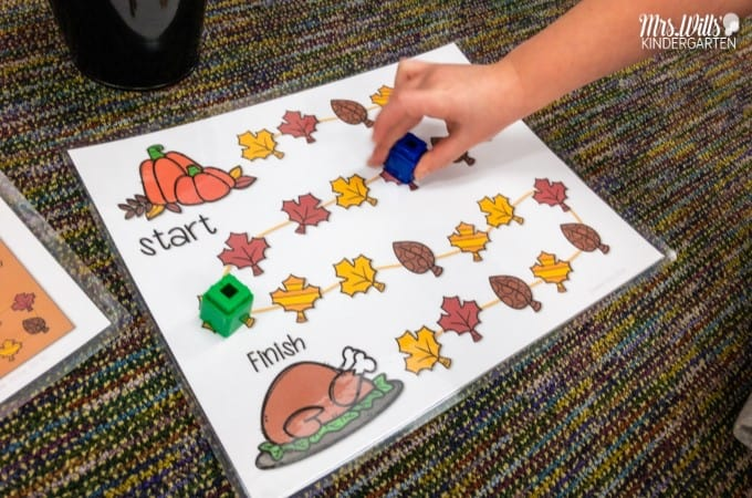 Engaging math games for kindergarten and first grade that give students the opportunity to practice basic number skills including numeral recognition, number bonds, addition and subtraction, ten frames, shapes, and more.