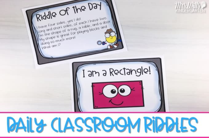 Daily Classroom Riddles To Teach Text Details And Inferring