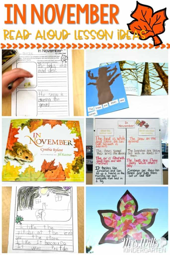 In November Read Aloud Lesson IdIn November Read Aloud Lesson Ideas for K/1. Check out these classroom activities that you can use for reading and writing. Anchor charts, reading comprehension and responding to literature. Fun arts and craft ideas for your November themes. #innovember #engagingreaders #readinglessonplanseas for K/1. Check out these classroom activities that you can use for reading and writing. Anchor charts, reading comprehension and responding to literature. Fun arts and craft ideas for your November themes.
