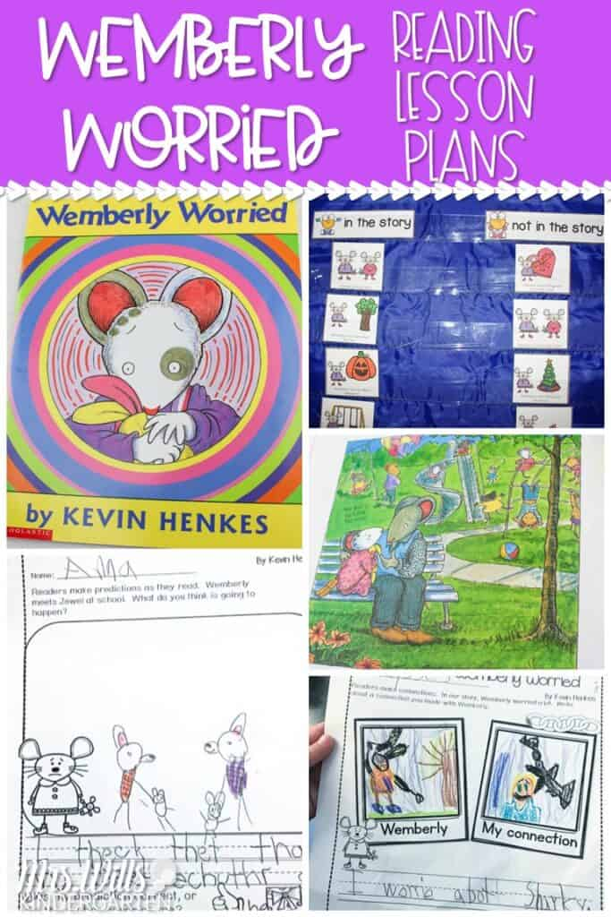 Wemberly Worried Read Aloud Lesson Ideas. These activities for Wemberly Worried will be a big hit in your kindergarten or first-grade classroom. Reading comprehension questions and response activities. Even a couple of fun Wemberly Worried crafts! Check it out! #engagingreaders #wemberlyworried #readinglessonplans