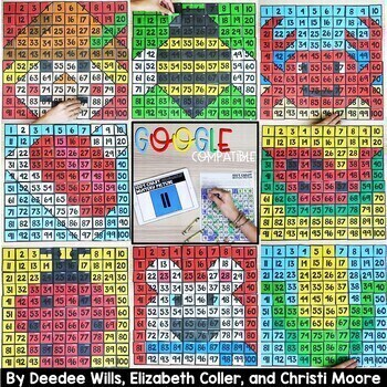 100's Chart Mystery Puzzles Kindergarten-Bundle 2