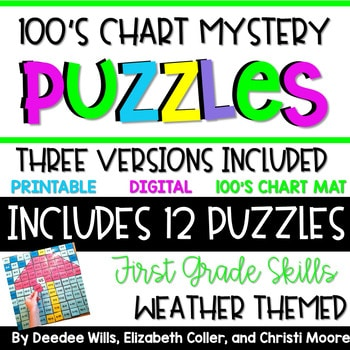 100's Chart Mystery Puzzles Year First Grade-Weather 1