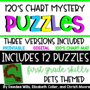 120's Chart Mystery Puzzles Year First Grade-Circus 1