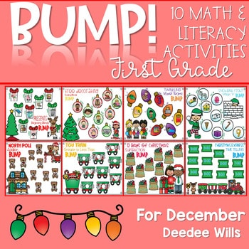 BUMP Games Monthly Math and Literacy First Grade | December 1