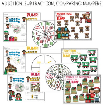 BUMP Games Monthly Math and Literacy First Grade | December 4