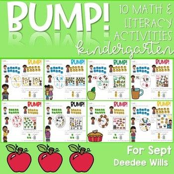 BUMP Games Monthly Math and Literacy Kindergarten   September 1