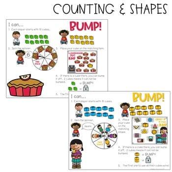 BUMP Games Monthly Math and Literacy Kindergarten   September 4