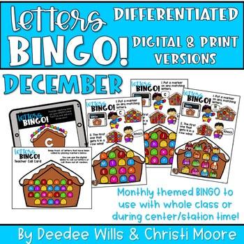 Digital Bingo Letters & Sounds   December 1