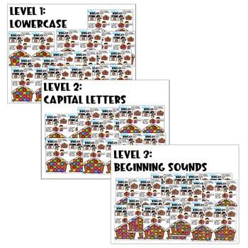 Digital Bingo Letters & Sounds   December 4