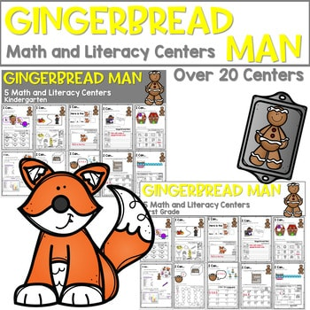 Gingerbread Man | Literacy Centers and Math Centers 1