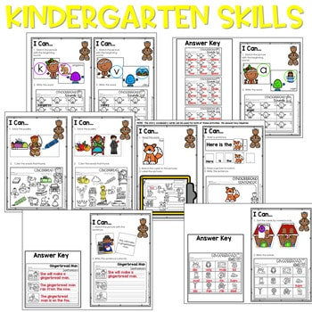 Gingerbread Man   Literacy Centers and Math Centers 4