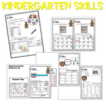 Gingerbread Man | Literacy Centers and Math Centers 3