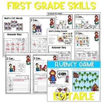 Little Red Riding Hood | Literacy Centers and Math Centers 4