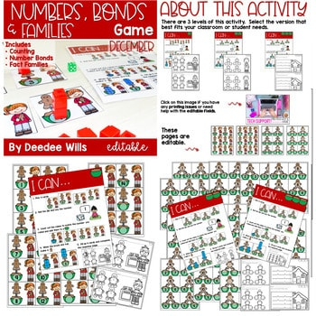 Math Games: Numbers, Number Bonds, and Fact Families | Bundle 3
