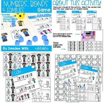Math Games: Numbers, Number Bonds, and Fact Families | Bundle 4