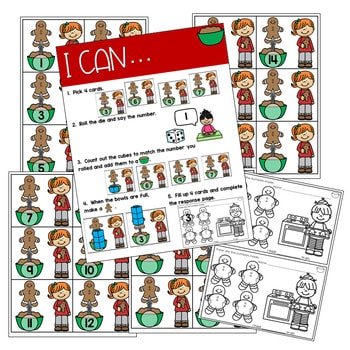 Math Games: Numbers, Number Bonds, and Fact Families | December (editable) 3