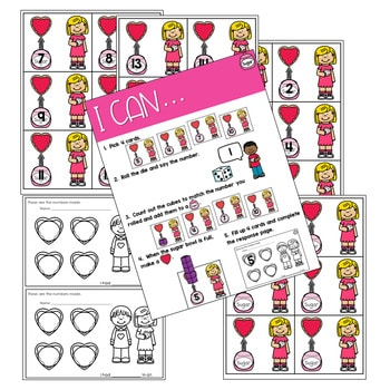 Math Games: Numbers, Number Bonds, and Fact Families   February (editable) 3