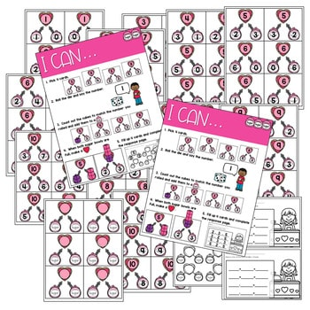 Math Games: Numbers, Number Bonds, and Fact Families   February (editable) 4