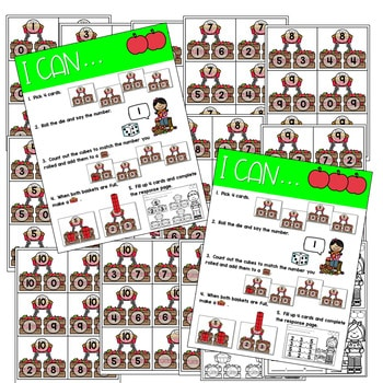 Math Games: Numbers, Number Bonds, and Fact Families | September (editable) 4