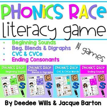 Phonics Race Games for Kindergarten 1