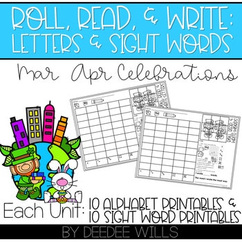 Roll and Write: Editable Worksheets Bundle | Holidays 4