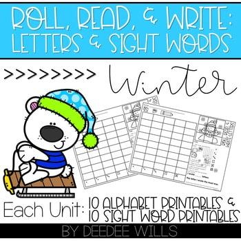 Roll and Write: Editable Worksheets Bundle | Seasons 4
