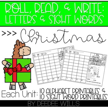 Roll and Write: Editable Worksheets | Christmas 1