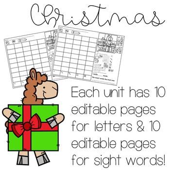Roll and Write: Editable Worksheets | Christmas 2
