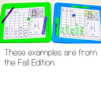 Roll and Write: Editable Worksheets   Fall 3