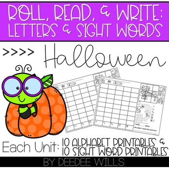 Roll and Write: Editable Worksheets | Halloween 1