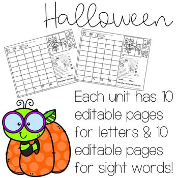 Roll and Write: Editable Worksheets | Halloween 2