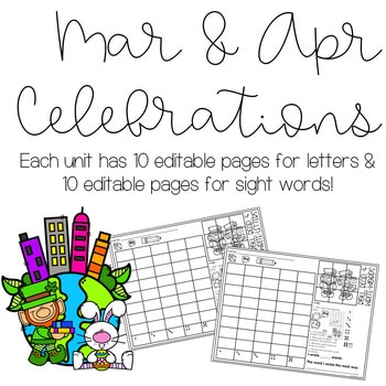 Roll and Write: Editable Worksheets   March & April Celebrations 2