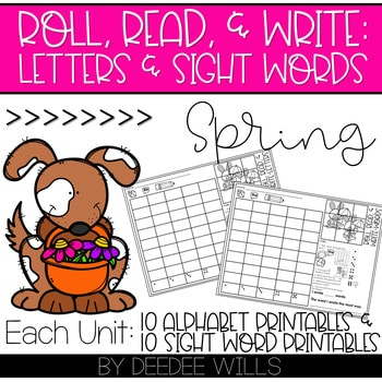 Roll and Write: Editable Worksheets | Spring 1