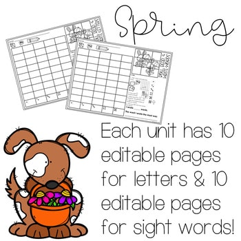 Roll and Write: Editable Worksheets | Spring 2