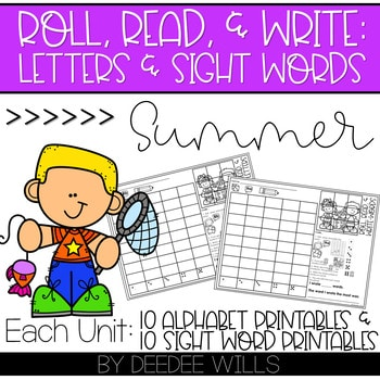 Roll and Write: Editable Worksheets | Summer 1