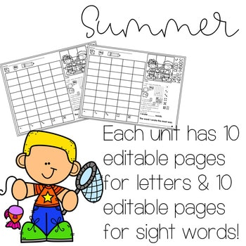 Roll and Write: Editable Worksheets | Summer 2